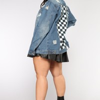 Check The Vibe Denim Jacket - Denim Blue