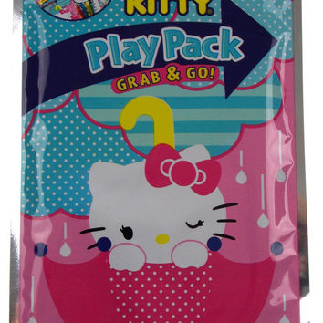 Lot 6 Hello Kitty Play Packs Grab & Go Family Friends Coloring Crayons Stickers