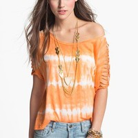 ANM Shredded Tie Dye Tee (Juniors) | Nordstrom