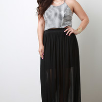Plus Size Goddess Sheer Maxi Skirt