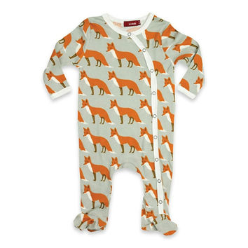 Fox Organic Footed Romper