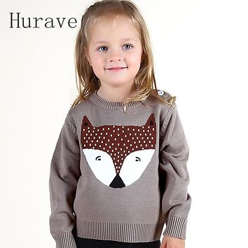 Autumn winter kids sweater children clothing fox boys sweater for girl pattern knitted casual kids sweater