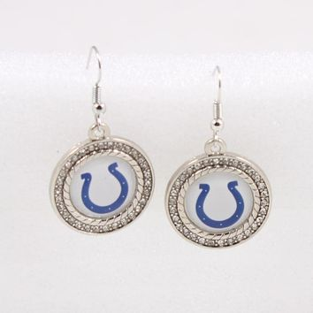 America Footbal Earrings Jewelry  Indianapolis Colts Football Sport Team Earring for Women Earrings Jewelry Dropshipping