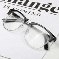 Fashion Women Men Unisex Hipster Vintage Retro Classic Half Frame Glasses Clear Lens Nerd Eyewear 4 Colors oculos feminino SM6