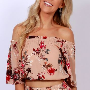 Miami Mama Crop Top Blush