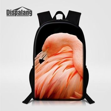 Boys bookbag trendy Dispalang Teenagers School Bag Flamingo Prints High Quality School  Youth Rucksack Back Pack Campus Backpacks Sac A Dos AT_51_3
