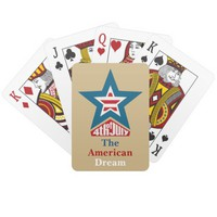 4th of July Star Playing Cards