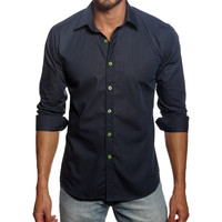 Navy & Green Buttons Contrast Button-Up | zulily