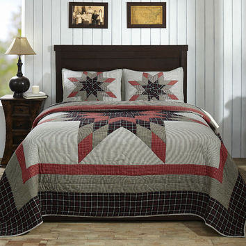 Wendon Star Queen Set; 1-Quilt  w/2 Shams King Queen