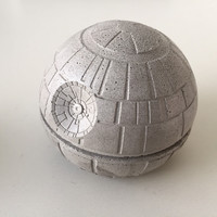 Death Star concrete paper weight