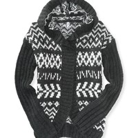 Fair Isle Hooded Cardigan