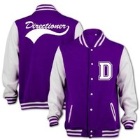 Unisex-Adult Directioner Fan Jacket Large Purple