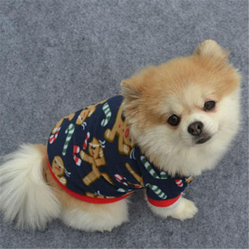 Pullover Embroidered Gingerbread Dog Clothes & Cat Clothes