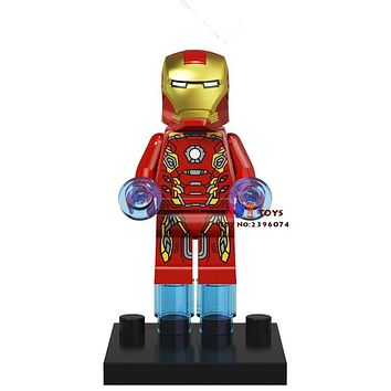 Single Sale star wars superhero marvel Iron Man Collection building blocks model bricks toys for children brinquedos menino