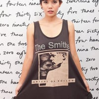 The Smiths T Shirt Dress Hatful of Hollow UK Rock Women Black Tunic T-Shirt Top Vest Mini Sleeveless Size M L