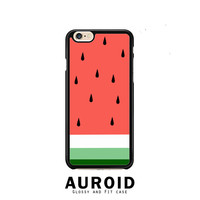 Watermelon Fruit Cute Pink and Green Funny iPhone 6 Plus Case Auroid