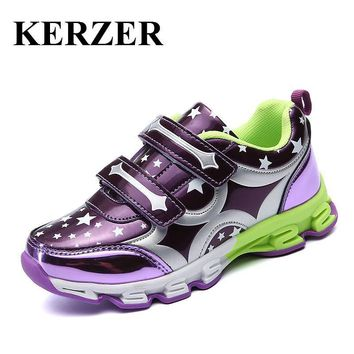 New 2017 New Trend Children Girl Shoes Summer Sneakers Kids Brand Leather Kids Trainer