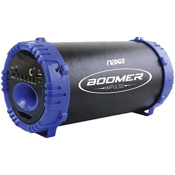 Naxa Boomer Impulse Led Bluetooth Boom Box (blue)