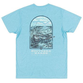 Relax and Explore - Canoe Tee in Washed Barbados by Southern Marsh
