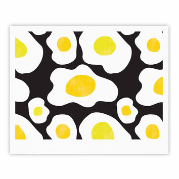 "Vasare Nar ""Fried Eggs Pattern"" Yellow Pop Art Fine Art Gallery Print"