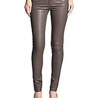 Vince - Five-Pocket Leather Skinny Jeans - Saks Fifth Avenue Mobile