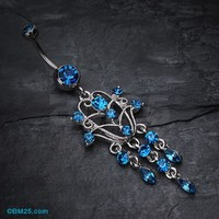 Chandelier Filigree Sparkle Belly Ring