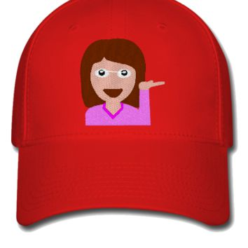 emoji girl hand left png Bucket Hat - Flexfit Baseball Cap