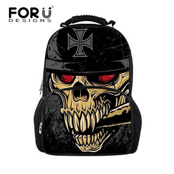 Unique Backpacks Cool 3D Skull Backpack Casual Travel Backpack