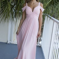 Power Pose Pink Maxi Dress