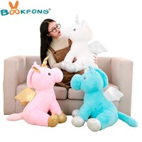 1pc 40cm Cute Unicorn Animal Pillow Kawaii Horse With Wings Plush Toy Stuffed Soft For Kids Girls Lovely Birthday Gift