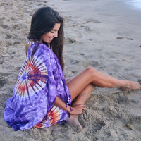 Most popular tie dye clothing, fringe kimono, boho  beach poncho, cardigan plus size, hipster clothing, handmade items, unique gifting ideas