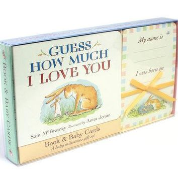 Guess How Much I Love You: Baby Milestone Moments: Board Book and Cards Gift Set By Sam McBratney Illustrated by Anita Jeram