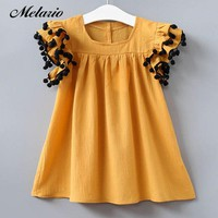 2018 New fashion Summer Costume Little Girls Princess Dress Children's Casual Clothes Kids fly sleeve Girl Party Holiday Dresses
