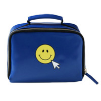 College Wind ~ Online Creative Korea Ulzzang Cosmetic Clutch Debris  Blue