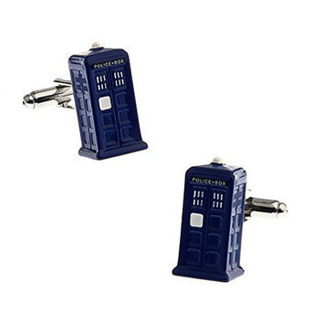 "Basket Hill, Dr Who "" Tardis "" 3D Cufflinks"