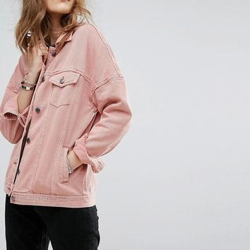 Vero Moda Washed Denim Jacket at asos.com