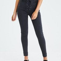 AEO Denim X Super Hi-Rise Jegging, Faded Black