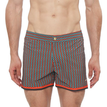 "4"" Clipper Printed Mykonos Retro Boardshort"