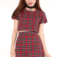 Ready To Post - Red Tartan Motel 2 Piece Set