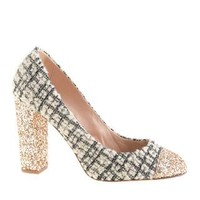 COLLECTION ETTA TWEED AND GLITTER PUMPS