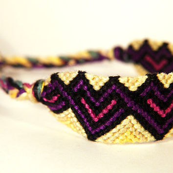 Valentine's Yellow Heart Shaped Friendship Bracelet  by PerfectImp