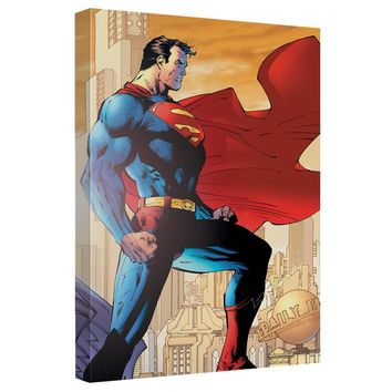Superman - City Watch Canvas Wall Art With Back Board