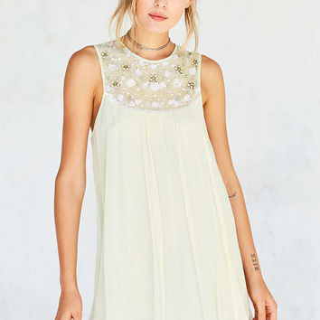 Kimchi Blue Mimi Embellished Trapeze Mini Dress - Urban Outfitters