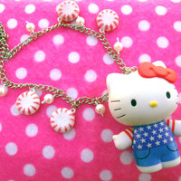 Peppermint Hello Kitty Kawaii Lolita Necklace
