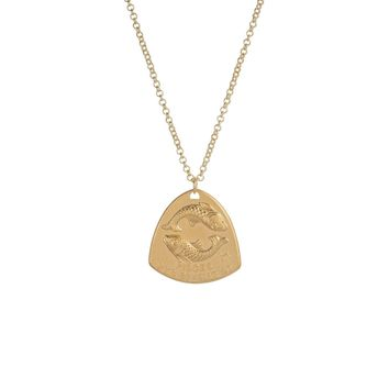Astrology Shield Necklace - Pisces