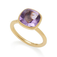 Rumba 18K Yellow Gold and Amethyst Stacking Ring | Moda Operandi