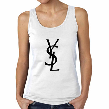 Ysl Yvest Saint Laurent Logo Women Tank Top