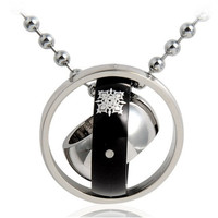 Vampire Knight Three Ring Pendant Necklace (Silver)