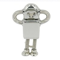 Metal Robot Designed Keychain 16GB USB Flash Drive - in Gift box - with GadgetMe Brands TM Stylus Pen and comes in GadgetMe retail packaging