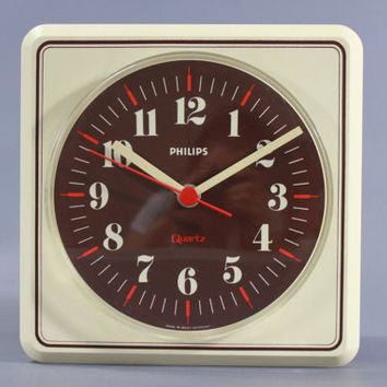Vintage Wall Clock by Philips West Germany - RARE RETRO - Mid Century Modern